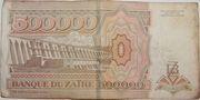 500000 Zaïres – reverse