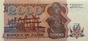 2000 Zaires – reverse
