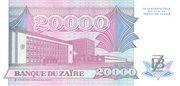 20,000 Zaïres – reverse
