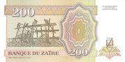 200 Nouveaux Zaïres – reverse
