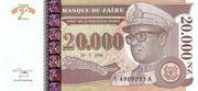 20,000 Nouveaux Zaïres – obverse