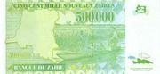 500,000 Nouveaux Zaires – reverse