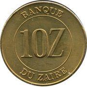 10 Zaïres – reverse