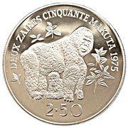 2½ Zaïres (Conservation) – reverse