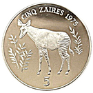 5 Zaïres (Conservation) – reverse