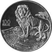 100 Kwacha (Lion) – reverse