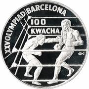 100 Kwacha (1992 Olympics) – reverse