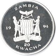 20 Kwacha (1994 Olympics) – obverse