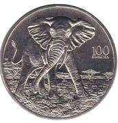 100 Kwacha (African Elephant) – reverse