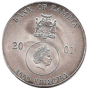 4000 Kwacha (Dolphins) – obverse