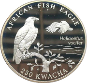 250 Kwacha (African Fish Eagle) – reverse