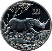 100 Kwacha (Rhinoceros) – reverse