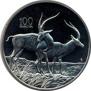 100 Kwacha (Gazelle) – reverse