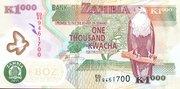 1000 Kwacha – obverse