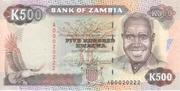 500 Kwacha – obverse