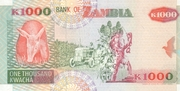 1000 Kwacha – reverse