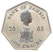 1000 Kwacha (Year Calendar) -  obverse