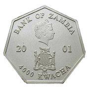4000 Kwacha - Elizabeth II (Calendar) -  obverse