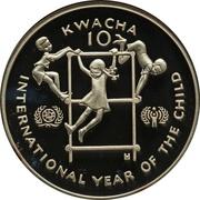 10 Kwacha (International Year of the Child; Piedfort) – reverse