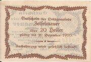 20 Heller (Zeiselmauer) – reverse