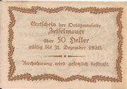 50 Heller (Zeiselmauer) – reverse