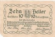 10 Heller (Zell an der Pram) – reverse