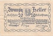 20 Heller (Zell an der Pram) -  reverse