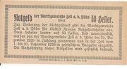50 Heller (Zell an der Ybbs) -  reverse