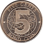 5 Cents (Bond Coin) – reverse