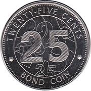 25 Cents (Bond Coin) -  reverse