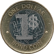 1 Dollar (Bond Coin) – reverse