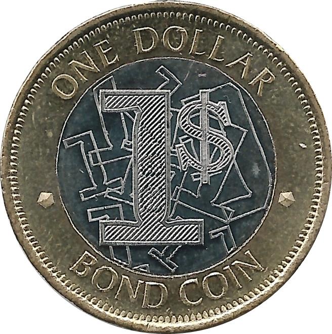 1 Dollar Bond Coin Zimbabwe Numista