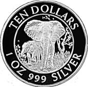 10 Dollars (Kariba Dam) – reverse