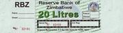 20 Litres - Fuel Coupon – obverse