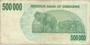 500 000 Dollars (Bearer Cheque) – reverse