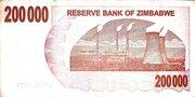 200 000 Dollars (Bearer Cheque) – reverse