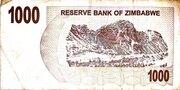 1 000 Dollars (Bearer Cheque) – reverse