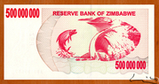 500 000 000 Dollars (Bearer Cheque) – reverse