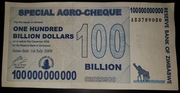 100 000 000 000 Dollars (Special Agro-Cheque) – obverse