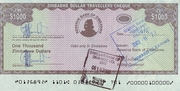 1,000 Dollars - Travellers Cheque – obverse