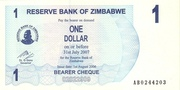 1 Dollar (Bearer Cheque) – obverse