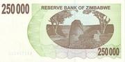 250 000 Dollars (Bearer Cheque) – reverse
