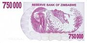 750 000 Dollars (Bearer Cheque) – reverse