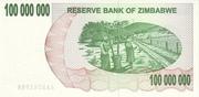 100 000 000 Dollars (Bearer Cheque) – reverse