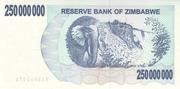 250 000 000 Dollars (Bearer Cheque) – reverse