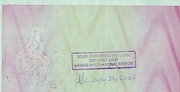 5 000 Dollars - Travellers Cheque – reverse