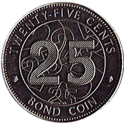 25 Cents (Bond Coin) – reverse