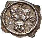1 Pfennig - Hartmann & Ludwig von Froburg – obverse