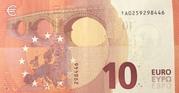 10 Euro (Europa series) – reverse