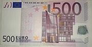 500 Euro – obverse